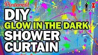 DIY Glow in the Dark Shower Curtain - Man Vs Pin