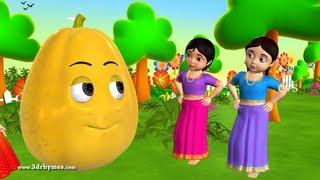 Learn Telugu Pandlu - Fruits - 3D Animation Preschool Telugu rhymes for children