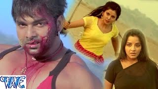Fight Scene of Pawan Singh || Suhaag || Action Scene from Bhojpuri Movie || Monalisa