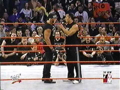 The Rock Rock Bottom Hulk Hogan NWO