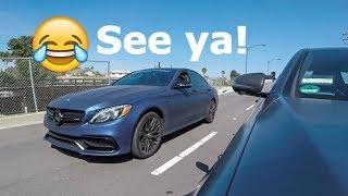 630hp Mercedes C63 AMG Thinks He