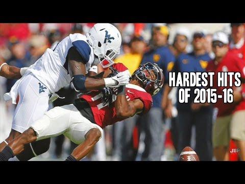 Hardest Hits of the 2015 16 College Football Season Part 1 ᴴᴰ
