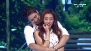 (150826) Kim Hyung Jun - Cross The Line (feat. Ha Young of Playback) @ MBC MUSIC Show Champion (60F)