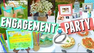 MY ENGAGEMENT PARTY! DIY Decorations, Games, Playlist + Outfit || Wedding Series 👰💍