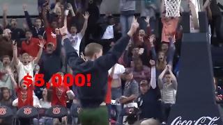 Auburn Student Ben Bode Hits Half Court Shot For 5 Grand!