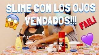 Haciendo slime con los ojos VENDADOS!!!😱   La tELIvision