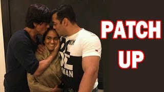 Salman Khan & Shahrukh Khan Hug & Patch Up At Arpita Khan's Mehendi Ceremony! - EXCLUSIVE
