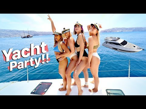 GIRLS PARTYING ON A YACHT IN GREECE