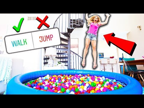 24 Hours in a BALL PiT in my LiViNG ROOM you decide