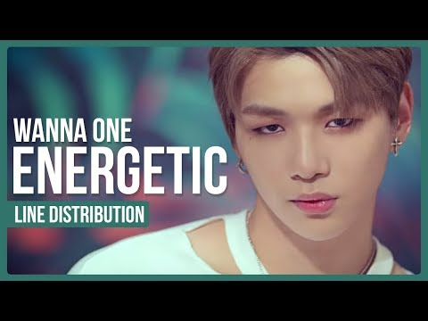 WANNA ONE - ENERGETIC Line Distribution (Color Coded) | 워너원 - 에너제틱
