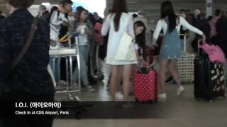 KCON Paris - I.O.I. (아이오아이)- Check In at CDG Airport, Paris Part 1 by Franc C