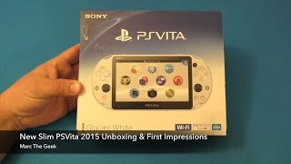 New Slim PSVita 2015 Unboxing & First Impressions