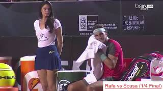 Beautiful HOT GIRL of Rafael NADAL - funny moments tennis Rio Open 2014