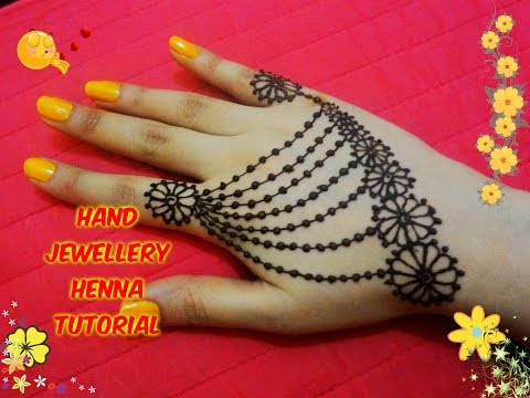 Easy DIY: Best and Beautiful hand jewellery henna Mehndi design Tutorial