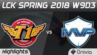 SKT vs MVP Highlights Game 1 LCK Spring 2018 W9D3 SK Telecom T1 vs MVP by Onivia