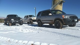 Lifted 02 Honda CRV and 2 Ford Rangers