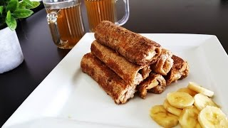 French Toast Roll-ups| Bread-banana rolls|Quick Breakfast/Snack Recipe