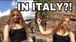 THE TIME I WENT TO ITALY