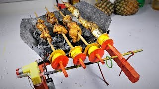 How to Make a simple Rotating Barbecue at Home |DIY