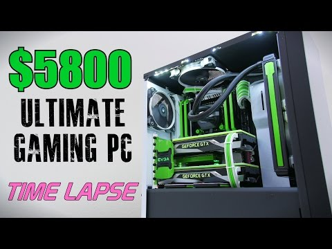 5800 Ultimate Gaming PC Time Lapse Build