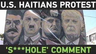 US Haitians protest Trump