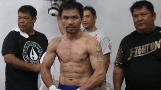 OMG! MANNY PACQUIAO RIPPED AF FOR KEITH THURMAN CLASH! LAST TRAINING SESSION