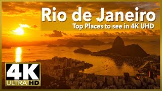 RIO DE JANEIRO Top Places to See in 4k UHD, Stock Video Footage