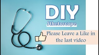 How to make a stethoscope at home - DIY Stethoscope Craft