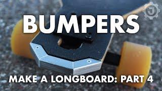 How to Make a Fiberglass Longboard (4. Bumpers)
