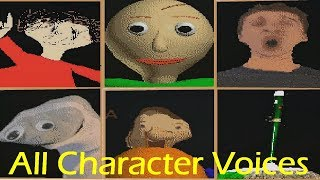 All Character Voices - Baldi