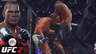 Hector Lombard Cutting Donald Cerrone OPEN - Blood Everywhere - EA Sports UFC 2 Online Gameplay