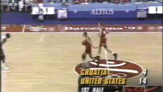 USA Vs Croatia | 1992 Olympics | Dream Team | Gold Medal Game | 117-85 | 08-08-1992