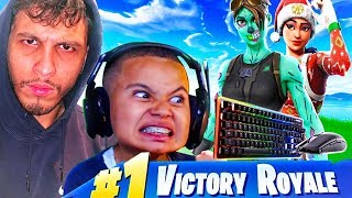 WINTER ROYALE WINNER AND MY LITTLER BROTHER PLAY DUOS ON PC!!! FORTNITE BATTLE ROYALE INSANE ENDING!
