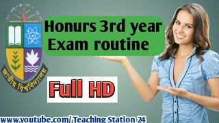 Honurs 3rd year exam routine / 2018 version / National University / by teaching Station 24