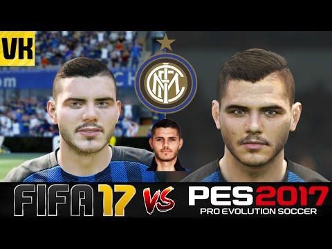 Fifa 17 vs pes 2017 vs real life inter milan player faces for Fifa 17 milan