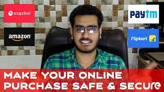 Make Online Purchase Safe & Secure | Amazon, Flipkart, Snapdeal - In Hindi