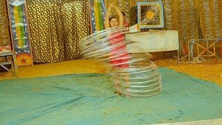 Amazing Circus Rings Dance Performance by Indian Young Girl    लड़की का रिंग खेल नाच