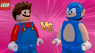 Mario VS Sonic - LEGO Marvel Avengers (Vingadores) Briga de Herois #82