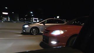 Mazda Speed3's vs Subaru STI - 300hp THROWDOWN!