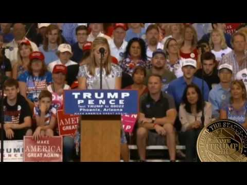 13 YEAR OLD GIRL Delivers THE BEST SPEECH EVER Faith Graham at Donald Trump Rally Arizona Phoenix ✔