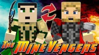 Minecraft MineVengers - BODY SWITCH, THOR VS LOKI!!!!