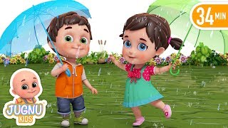 barish aayi cham cham cham - Barish song hindi - nursery rhymes in hindi for children by jugnu kids