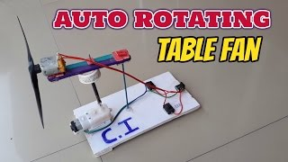 How to make mini auto rotating table fan at home