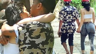 Kylie Jenner's boyfriend Tyga leans in for a kiss as pair pack on the PDA on romantic holiday