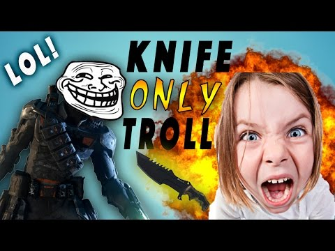 COD:BO3 KNIFE ONLY TROLLING IN SEARCH AND DESTROY!