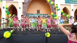 CAL kindergarten hula dance
