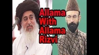 Allama With Allama Khadim Hussain Rizwi  Lahore TV  Pakistan  India  Allama Pranks  The serious most