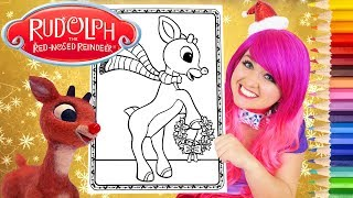 Coloring Rudolph The Red-Nosed Reindeer Coloring Page Prismacolor Pencils   KiMMi THE CLOWN