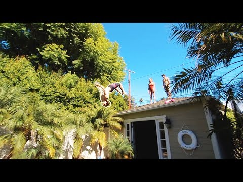 Xxx Mp4 SKETCHY ROOF FLIPS INTO POOL 3gp Sex