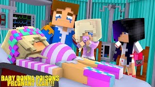 Minecraft BABY DONNA POISONS PREGNANT LITTLE LEAH!!! w/ LITTLE DONNY